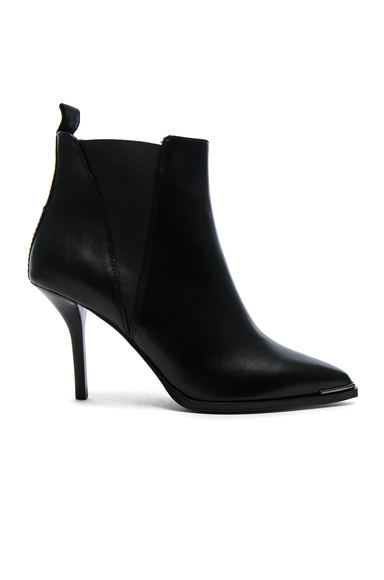 Acne Studios Leather Jemma Booties in Black