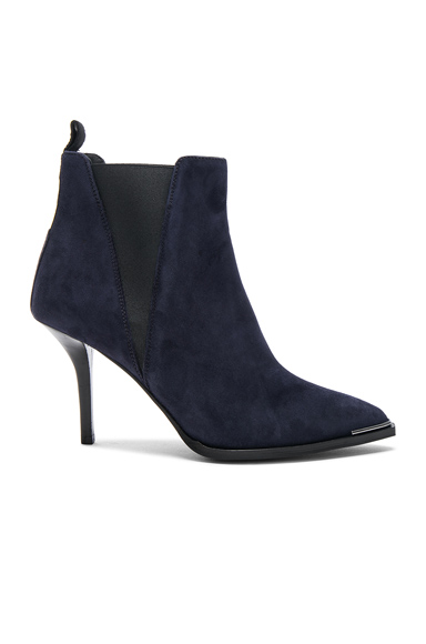 Acne Studios Suede Jemma Booties in Blue