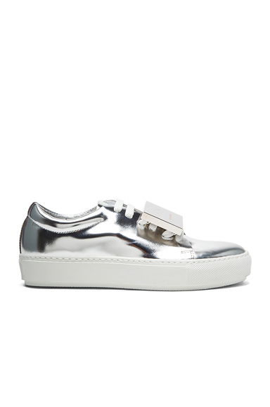 Acne Studios Adriana Metallic Leather Sneakers in Metallics