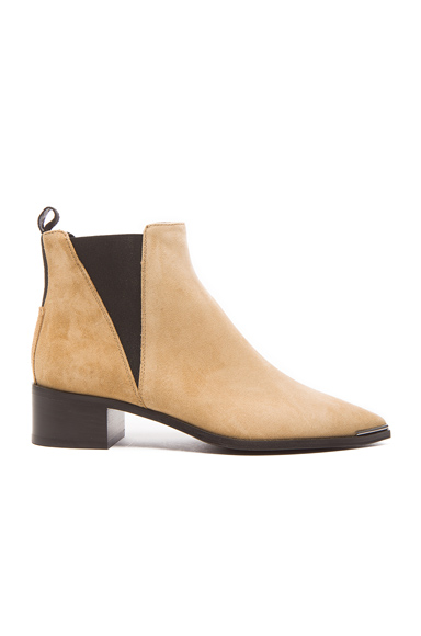 Acne Studios Jensen Suede Booties in Neutrals