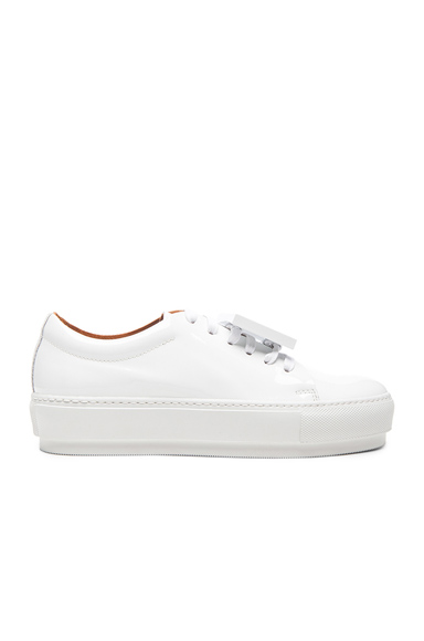 Acne Studios Adriana Patent Leather Sneakers in White