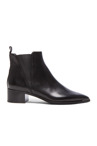 Acne Studios Leather Jensen Boots in Black