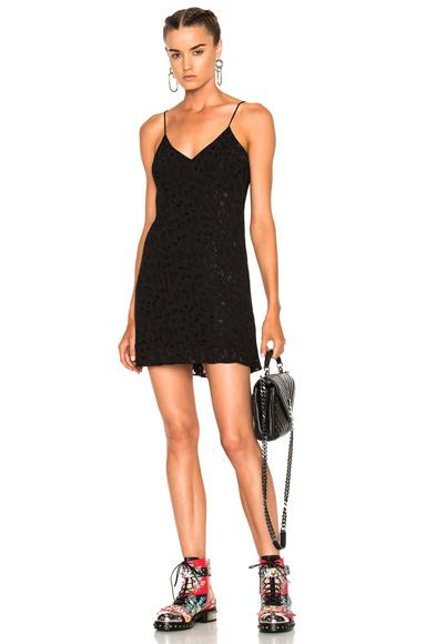 Adaptation Burnout Slip Dress in Black