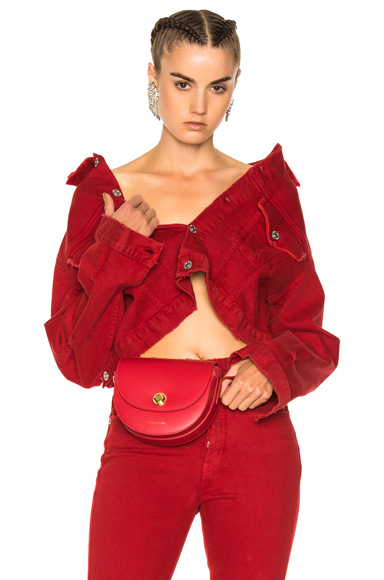 Adaptation Cropped Jacket in Red