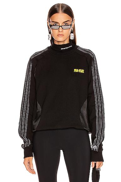 ADIDAS ORIGINALS X ALEXANDER WANG | Adidas By Alexander Wang Wangbody Sweatshirt In Black. - Size XS (Also In S) | Goxip
