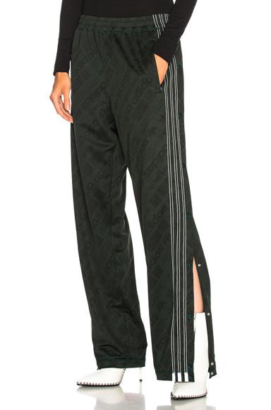 Adidas Originals por Alexander Wang Jacquard track pants, verde noche