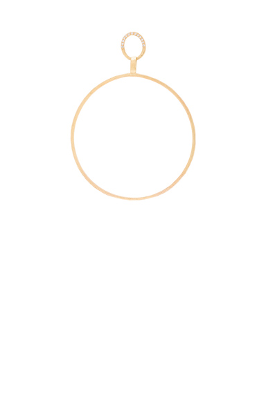 Afin Atelier Big Single Hoop Earring With Diamonds in Metallics.