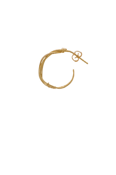 Afin Atelier Bohemian Single Hoop Earstick in Metallics.