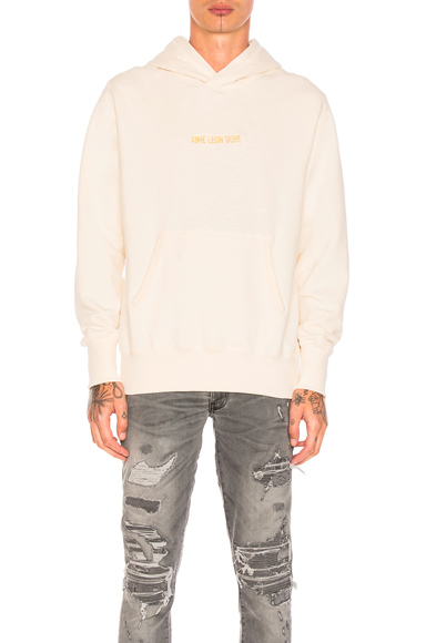 Aime Leon Dore Branded Kanga Hoodie in White. - size S (also in XL)