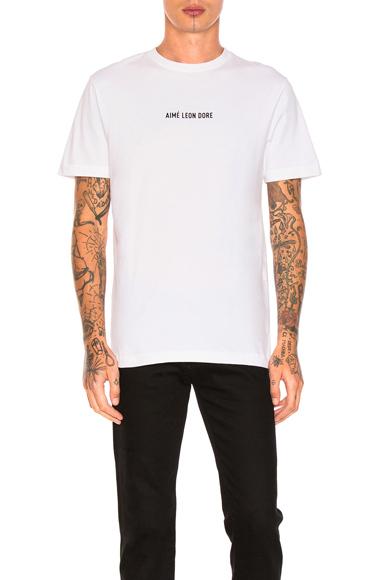 Aime Leon Dore Din Tee in White. - size M (also in S,XL)