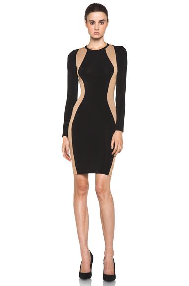 A.L.C. | Cullun Dress in Black & Nude
