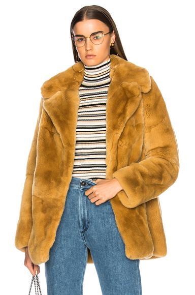 ALC Rabbit Fur Stone Coat in Neutrals