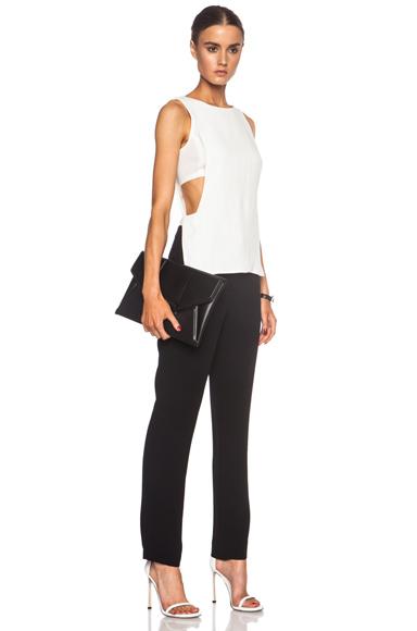 A.L.C. Landon Viscose-Blend Jumpsuit in Black, White