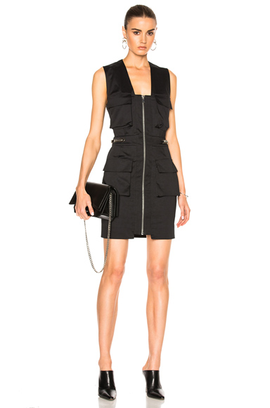 Alexandre Vauthier Cargo Dress in Black
