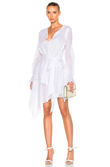Alexandre Vauthier Cotton Voile Dress in White. - size 36 (also in 38)