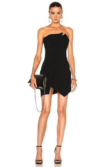 Alexandre Vauthier Cady Strapless Dress in Black