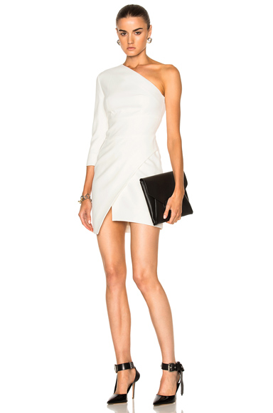 Alexandre Vauthier Cady One Shoulder Dress in White. - size 38 (also in )