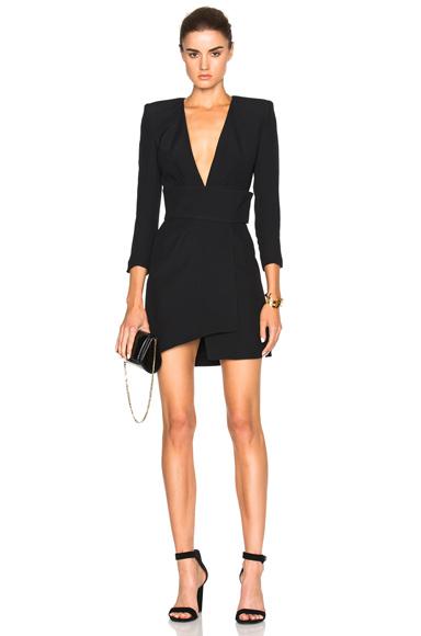 Alexandre Vauthier Crepe Dress in Black