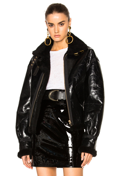Alexandre Vauthier Shearling Jacket in Black. - size 40 (also in 34)