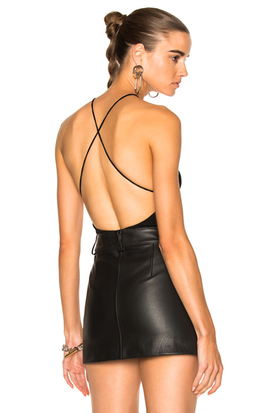 Alexandre Vauthier Stretch Jersey High Cut Bodysuit in Black. - size 1 (also in 2,3)