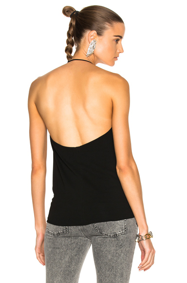 Alexandre Vauthier Stretch Jersey Halter Top in Black. - size 36 (also in 38,40,42)