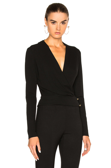 Alexandre Vauthier Deep V Top in Black. - size 2 (also in 3)