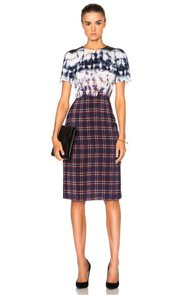 Altuzarra Glaze Dress in Blue, Checkered & Plaid, Ombre & Tie Dye
