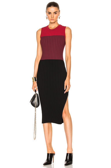Altuzarra Mariana Knit Dress in Black, Red