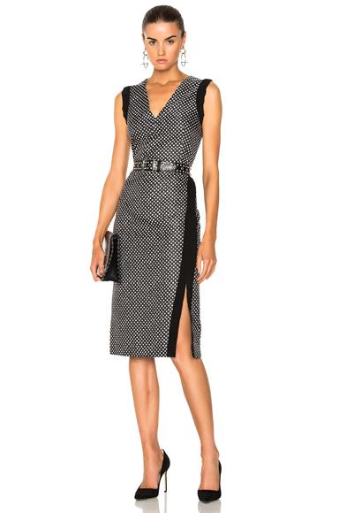 Altuzarra Lucrezia Dress in Black, Geometric Print