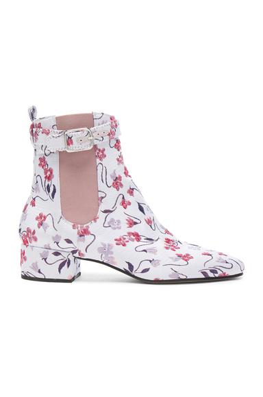 Altuzarra Jacquard Parnassus Chelsea Boots in Floral, Purple