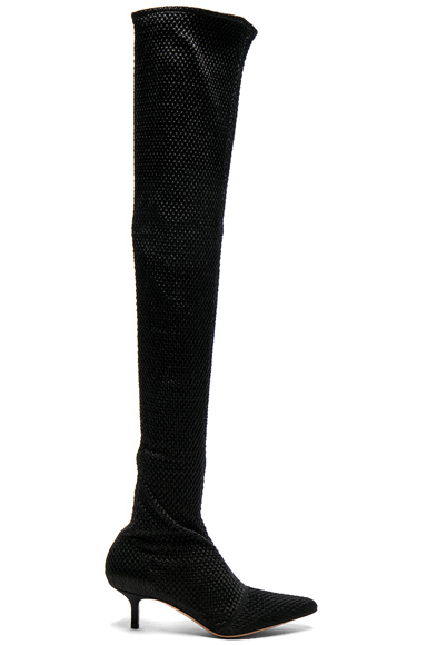 Altuzarra Elliot Low Heel Thigh High Boots in Black