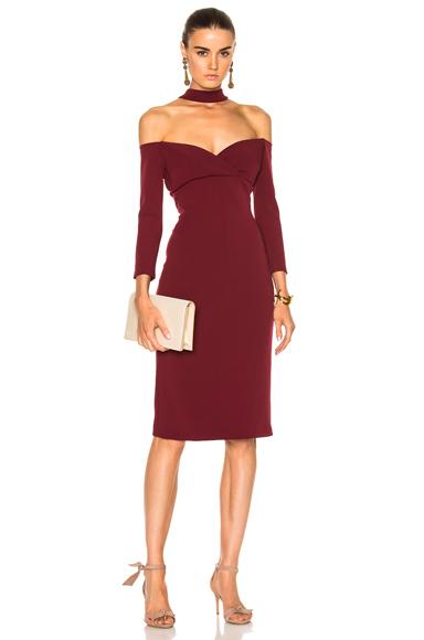 Alexis x FWRD Exclusive Nimah Long Sleeve Dress in Red, Purple