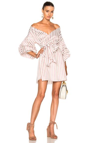 Alexis Maren Dress in Red, Stripes, White
