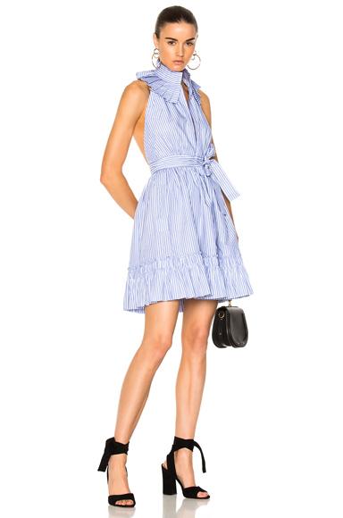 Alexis Briley Dress in Blue, Stripes