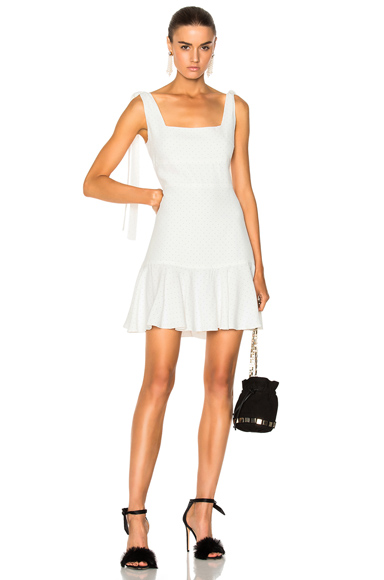 Alexis Jazz Dress in Abstract, White