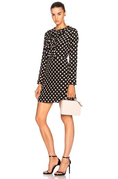 Alexis Corrine Dress in Black, Geometric Print