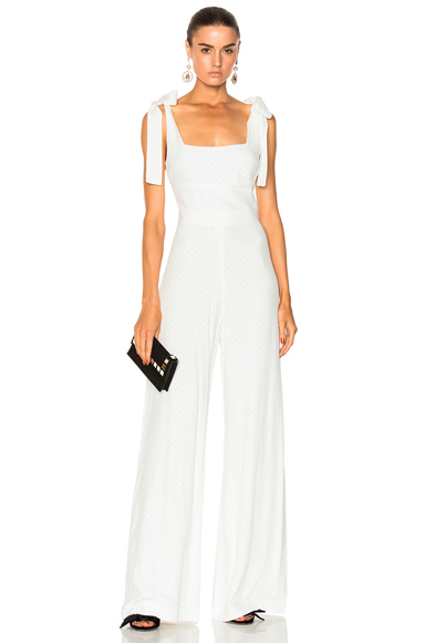 Alexis Lincolm Jumpsuit in Abstract, White
