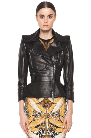 ALEXANDER MCQUEEN | Leather Jacket in Black