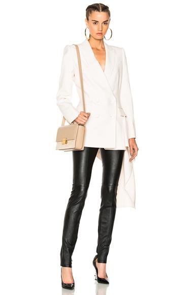 Alexander McQueen Light Wool Silk Double Breasted Blazer in Neutrals
