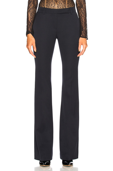 ALEXANDER MCQUEEN | Alexander McQueen Narrow Bootcut Trousers In Blue. - Size 44 (Also In 38,40) | Goxip