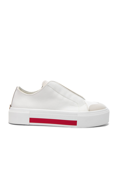 Alexander McQueen Canvas Platform Slide Sneakers in White