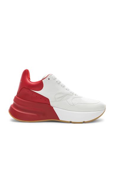 ALEXANDER MCQUEEN   Alexander McQueen Two Tone Platform Sneakers In White,Red. - Size 41 (Also In 35,36,37,37.5,38,38.5,39,39.5,40)   Goxip