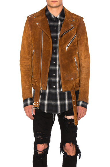 Amiri Suede Jacket in Brown. - size M (also in )