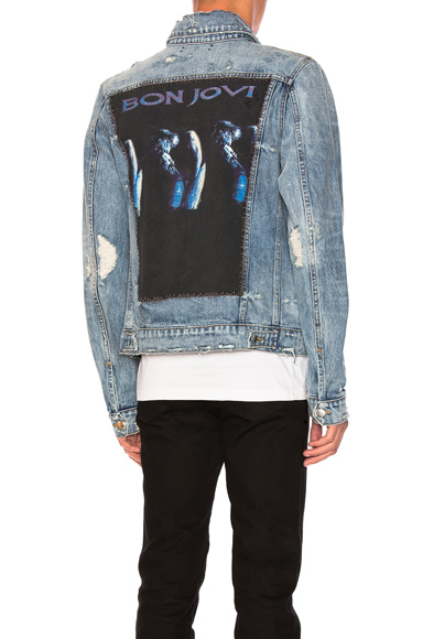 Amiri Concert Trucker Jacket in Blue. - size S (also in L,M,XS)