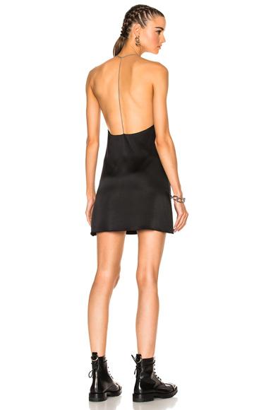 Amiri T Back V Neck Dress in Black