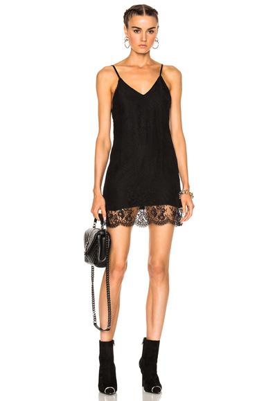 Amiri V Neck Slip Dress in Black