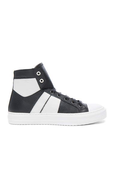 Amiri Leather Sunset Sneakers in Black