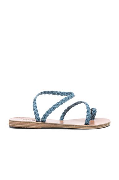 Ancient Greek Sandals Denim Eleftheria Sandals in Blue