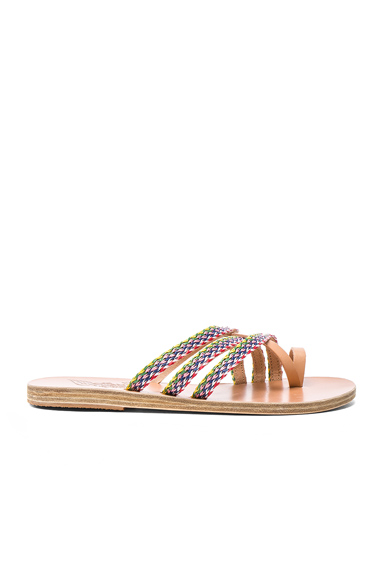 Ancient Greek Sandals Raffia Apli Amalia Sandals in Neutrals