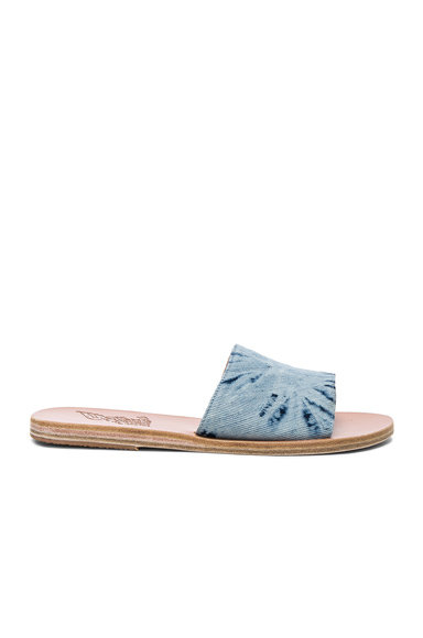 Ancient Greek Sandals Denim Taygete Sandals in Blue, Ombre & Tie Dye
